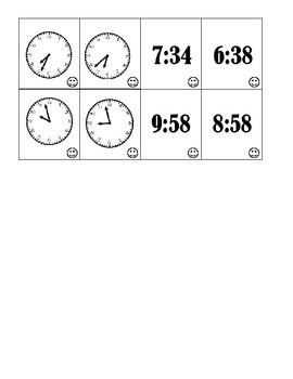 Telling Time Matching Game