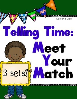 Telling Time Matching Game (Meet Your Match)