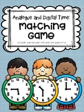 Telling Time - Matching Game (o'clock, quarter past, half past, quarter to)