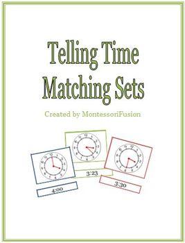 Telling Time Matching Sets & Recording Sheet