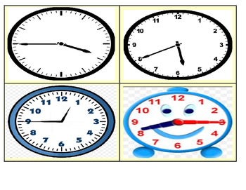 Telling Time Matching Task Cards (20 Cards)