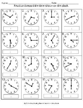 Math Investigations: Telling Time Math Bundle