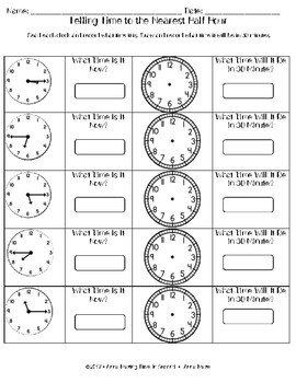 Math Investigations: Telling Time Math Bundle