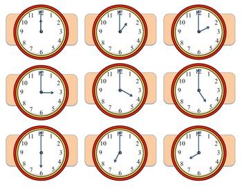 Telling Time Math Game