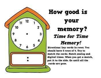 Telling Time Math Games: Hour, half hour, quarter hour, and 5 minutes
