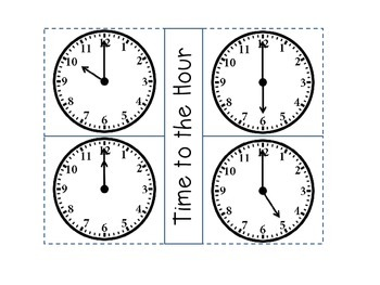 Telling Time Math Journal Activities
