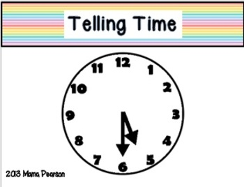 Telling Time Musical Chairs Game (5 minute increments)