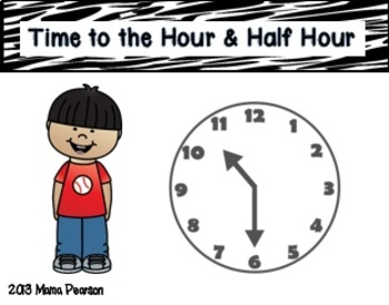 Telling Time Math Musical Chairs Game-Hour/Half Hour