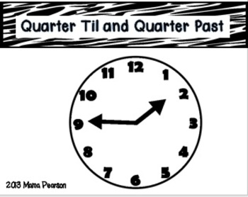 Telling Time Math Musical Chairs Game-Quarter To and Quarter Past