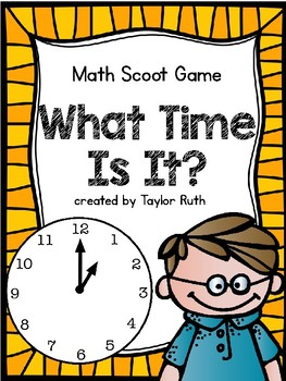 Telling Time Math Scoot (Math Activities)
