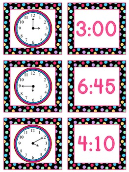 Telling Time to 5 Minutes Math Stations