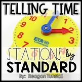 Telling Time Math Stations First Grade
