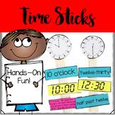 Telling Time Math Sticks