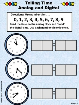 Telling Time - Math Tile Fun