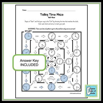 Telling Time Maze Bundle
