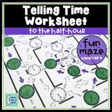 Telling Time Worksheet - Half-Hour