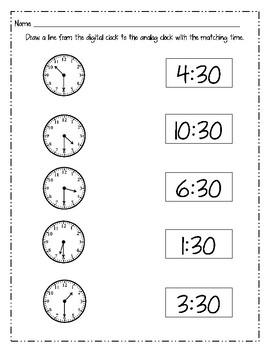 Telling Time Mega Bundle