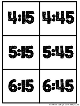 Telling Time Memory Game!