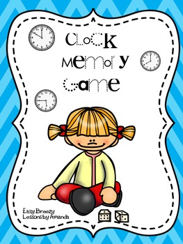 Second Grade Math Telling Time Memory Game
