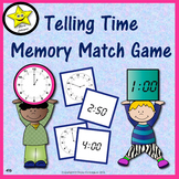 Telling Time Memory Match Game