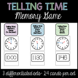 Telling Time Memory Match-Up (To the Hour, To the Half-Hou
