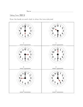Telling Time Mini Packet