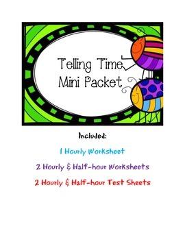 Telling Time Mini Packet