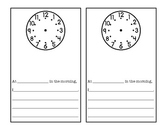 Telling Time: Mini-books for students