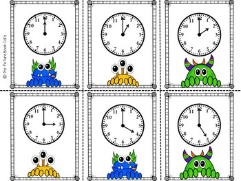 Telling Time Math Station (Monster Themed)