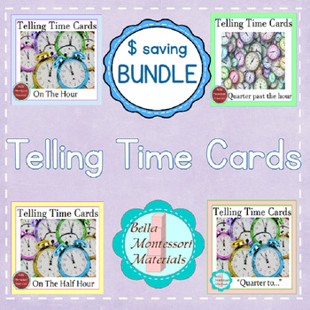 Telling Time Montessori Cards - Bundle