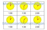 Telling Time Montessori Three Part Cards