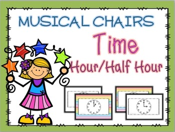 Telling Time Musical Chairs Game Hour and Half Hour