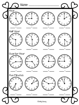 """Telling Time- My Valen""""time"""""""