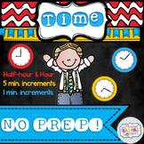 Telling Time NO PREP!