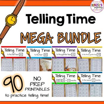 Telling Time NO PREP Mega Pack!