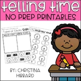 Telling Time No Prep Printables