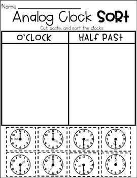Telling Time No Prep Printables