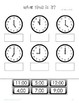 Telling Time No Prep Worksheets for Special Education