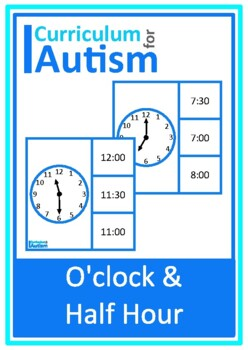 O'Clock& Half Past Telling the Time lip Cards, Autism Spec