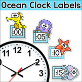 Ocean Theme Telling Time Clock Labels - Under the Sea Them