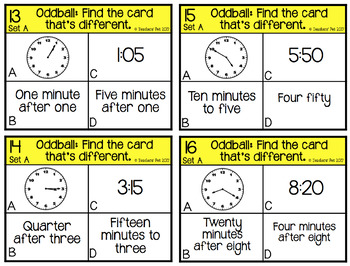 Telling Time Oddball Cards