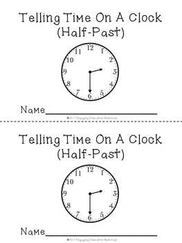 Telling Time On A Clock (Half-Past) Matching Cards & Recording Booklet