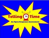 Telling Time Open Response