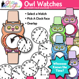 Telling Time Clock Clip Art Every 5 Minutes {Measurement T