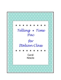 Telling Time * Pac For Italian Class ~ Distance Learning