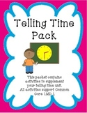 Telling Time Pack, 1.MD.3
