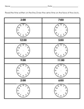 Telling Time Packet!