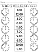 Telling Time No Prep Packet