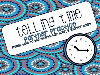 Telling Time Partner Practice {CCSS 3.MD.A.1}