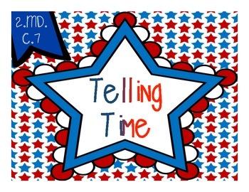 Telling Time {Patriotic Stars - 5 Minutes}